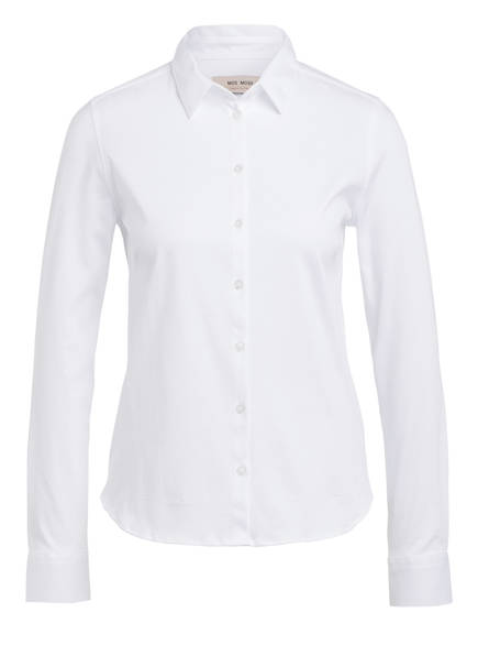 MOS MOSH Jersey-Hemdbluse TINA , Farbe: WEISS (Bild 1)