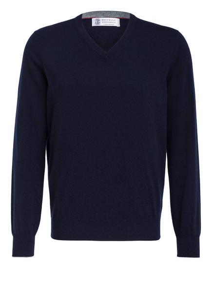 BRUNELLO CUCINELLI Cashmere-Pullover , Farbe: DUNKELBLAU (Bild 1)