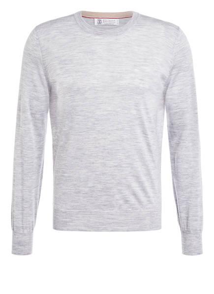 BRUNELLO CUCINELLI Pullover, Farbe: HELLGRAU MELIERT (Bild 1)