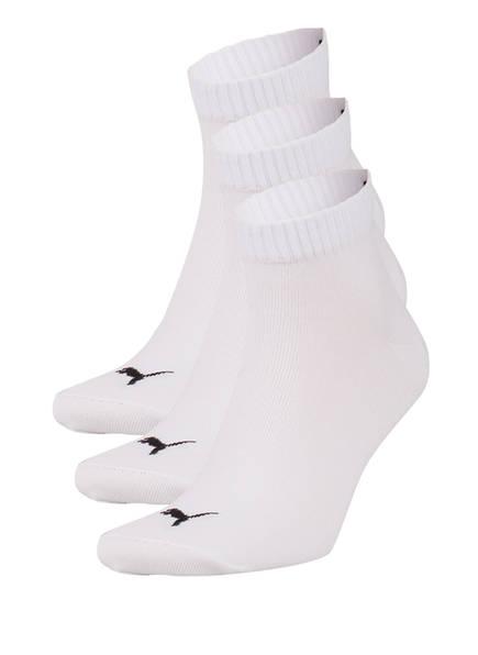PUMA 3er-Pack Socken QUARTERS, Farbe: 300 WHITE (Bild 1)