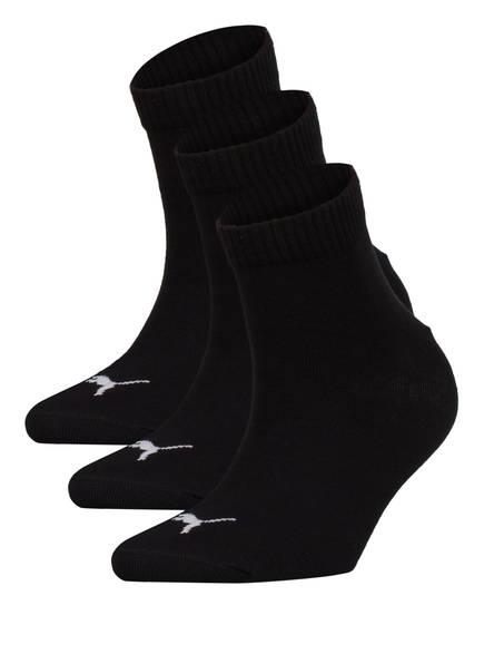 PUMA 3er-Pack Socken QUARTERS, Farbe: 200 BLACK (Bild 1)