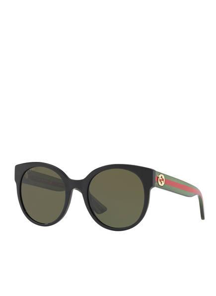 GUCCI Sonnenbrille GC000984, Farbe: 1100J1 - SCHWARZ/ GRÜN (Bild 1)