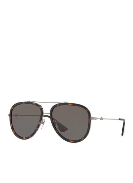 GUCCI Sonnenbrille GC000995, Farbe: 2800J1 - SILBER/ GRAU (Bild 1)