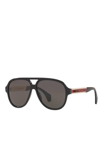 GUCCI Sonnenbrille GC001217, Farbe: 1100L1 - SCHWARZ/ DUNKELBRAUN (Bild 1)