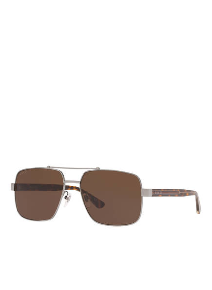 GUCCI Sonnenbrille GC001245, Farbe: 4240D1 - SILBER/ BRAUN (Bild 1)