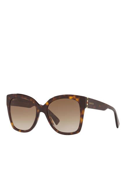 GUCCI Sonnenbrille GC001221, Farbe: 4402D1 - HAVANA/ BRAUN VERLAUF (Bild 1)