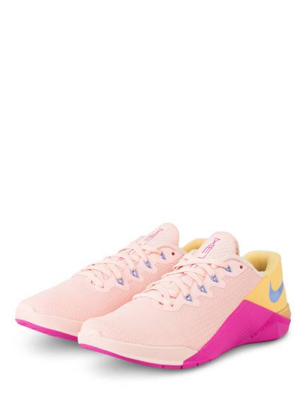 Nike Fitnessschuhe METCON 5, Farbe: NUDE/ PINK/ GELB (Bild 1)