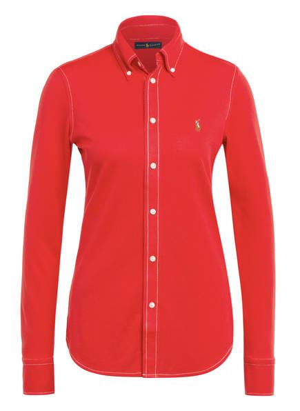 POLO RALPH LAUREN Piqué-Hemdbluse HEIDI, Farbe: ROT (Bild 1)
