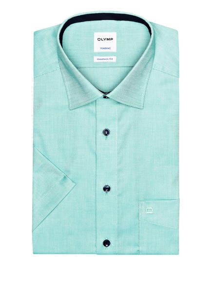 OLYMP Kurzarm-Hemd Tendenz modern fit, Farbe: GRÜN/ WEISS (Bild 1)