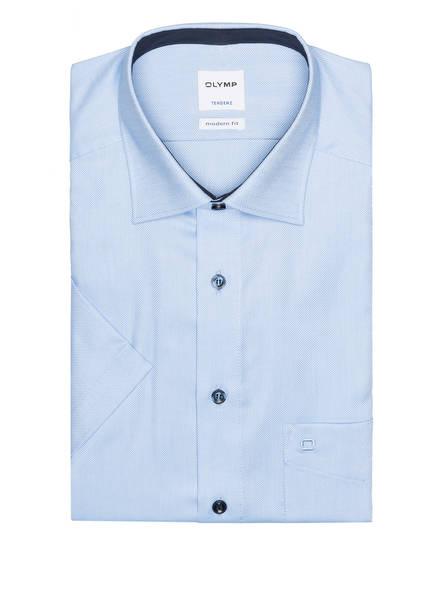 OLYMP Kurzarm-Hemd Tendenz modern fit, Farbe: HELLBLAU/ WEISS (Bild 1)