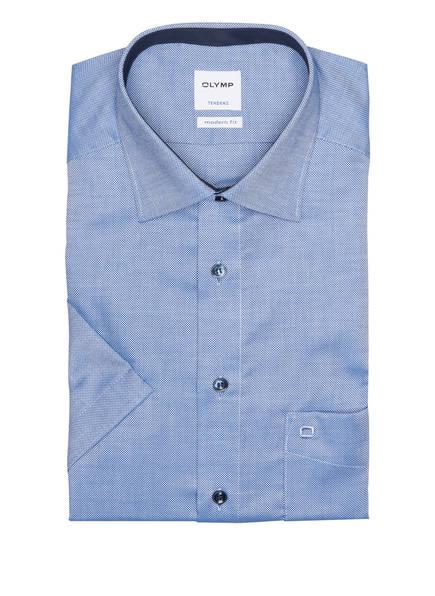 OLYMP Kurzarm-Hemd Tendenz modern fit, Farbe: BLAU/ WEISS (Bild 1)