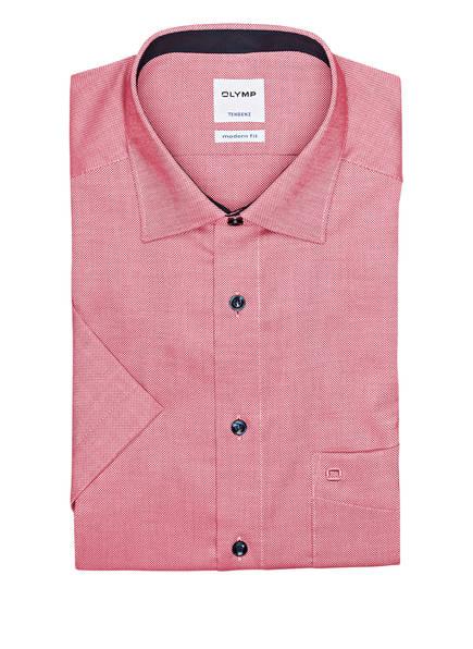 OLYMP Kurzarm-Hemd Tendenz modern fit, Farbe: ROT/ WEISS (Bild 1)