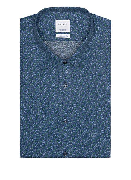 OLYMP Kurzarm-Hemd Tendenz modern fit, Farbe: BLAU/ GRÜN/ SCHWARZ (Bild 1)