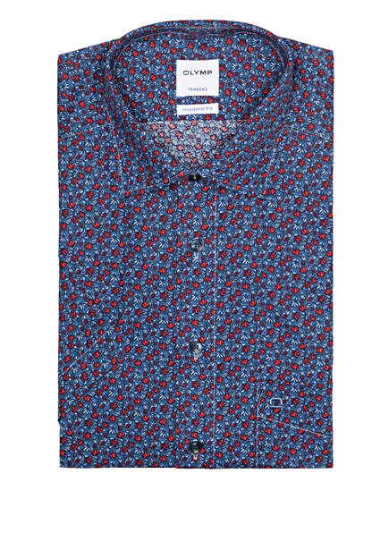 OLYMP Kurzarm-Hemd Tendenz modern fit, Farbe: BLAU/ ROT/ HELLBLAU (Bild 1)