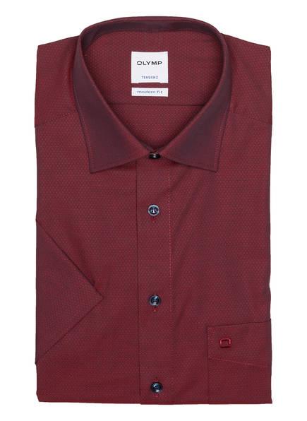 OLYMP Halbarm-Hemd Tendenz modern fit, Farbe: DUNKELROT (Bild 1)