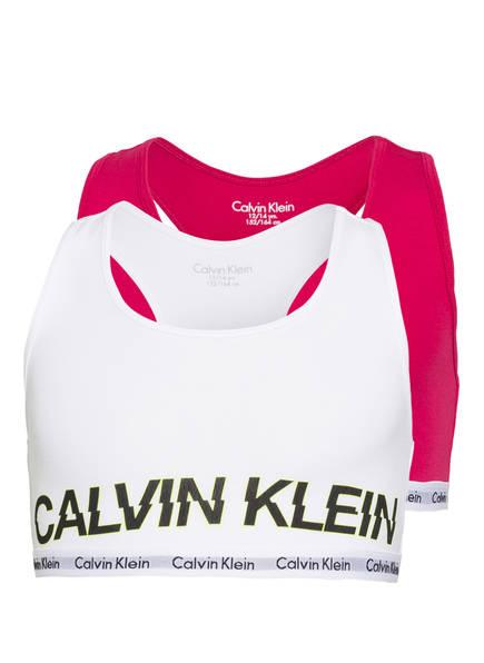 Calvin Klein 2er-Pack Bustiers MODERN COTTON, Farbe: WEISS/ FUCHSIA (Bild 1)
