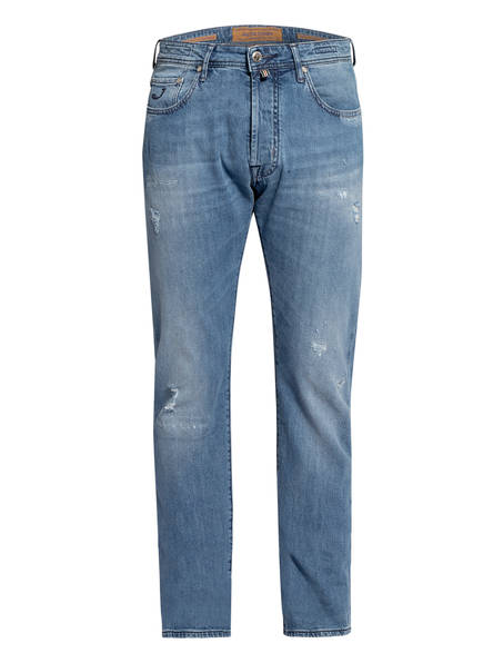 JACOB COHEN Destroyed Jeans J688 COMFORT LIMITED Slim Fit, Farbe: W3-003 HELLBLAU (Bild 1)