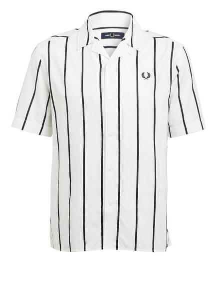 FRED PERRY Resorthemd Comfort Fit, Farbe: WEISS/ SCHWARZ GESTREIFT (Bild 1)
