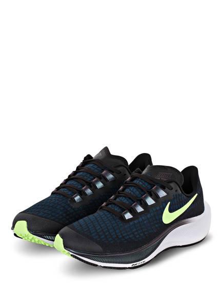 Nike Laufschuhe AIR ZOOM PEGASUS 37, Farbe: SCHWARZ/ NEONGRÜN/ DUNKELBLAU (Bild 1)