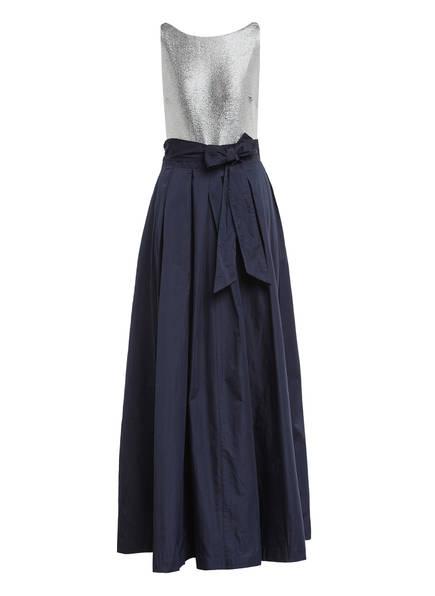 LAUREN RALPH LAUREN Abendkleid AGNI, Farbe: DUNKELBLAU/ SILBER (Bild 1)