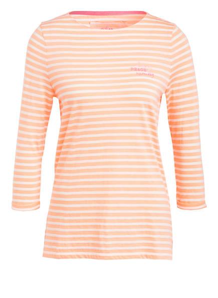 LIEBLINGSSTÜCK Shirt CARLA mit 3/4-Arm, Farbe: NEON ORANGE/  WEISS (Bild 1)