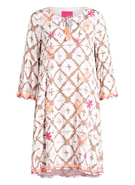 LIEBLINGSSTÜCK Kleid RAHEL mit 3/4-Arm, Farbe: WEISS/ ROSA/ ORANGE (Bild 1)