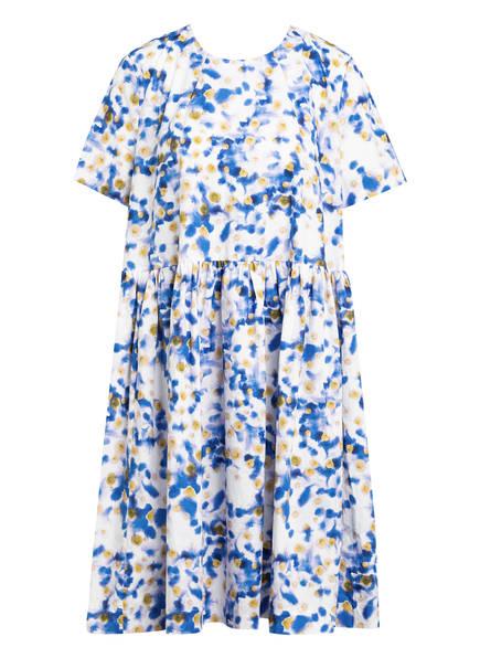 BAUM UND PFERDGARTEN Kleid ARETHA, Farbe: WEISS/ BLAU/ DUNKELGELB (Bild 1)