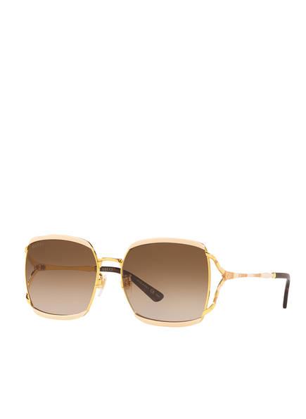GUCCI Sonnenbrille CD001105, Farbe: 3100D4 - GOLD/ BRAUN VERLAUF (Bild 1)