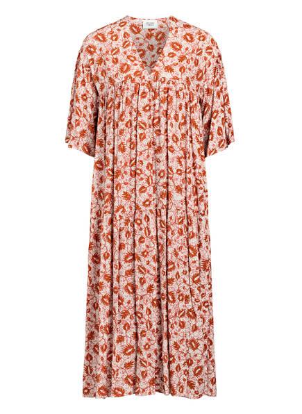 SECOND FEMALE Kleid MINE, Farbe: WEISS/  DUNKELORANGE (Bild 1)