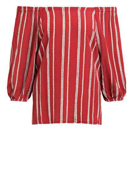 FREEQUENT Blusenshirt mit 3/4-Arm, Farbe: ROT/ WEISS/ BEIGE (Bild 1)