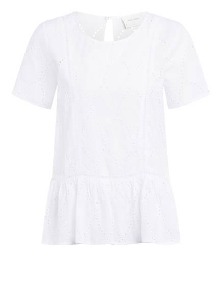 FREEQUENT Blusenshirt mit Lochspitze, Farbe: WEISS (Bild 1)