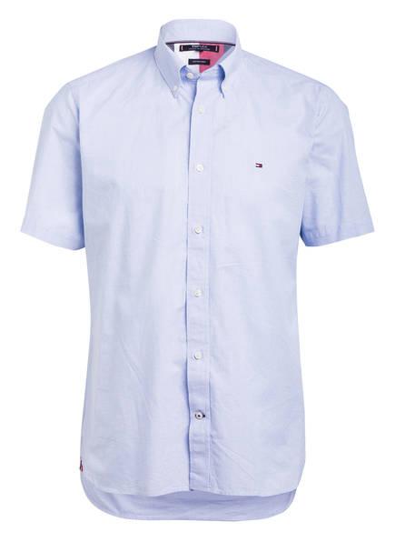 TOMMY HILFIGER Halbarm-Hemd FLEX Regular Fit, Farbe: HELLBLAU/ WEISS (Bild 1)