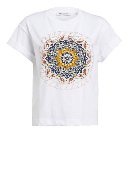 rich&royal T-Shirt mit Paillettenbesatz, Farbe: WEISS (Bild 1)
