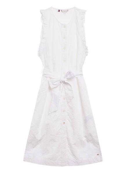 TOMMY HILFIGER Kleid RUBI aus Lochspitze, Farbe: WEISS (Bild 1)