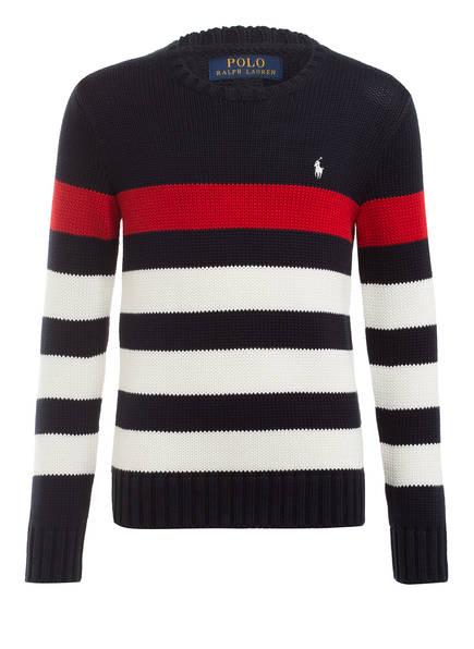 POLO RALPH LAUREN Pullover , Farbe: DUNKELBLAU/ WEISS/ ROT GESTREIFT (Bild 1)