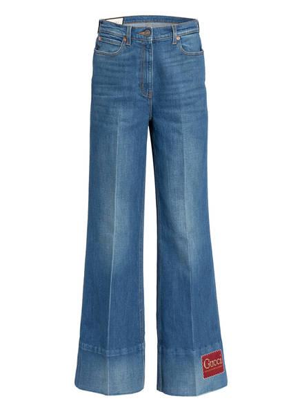 GUCCI Jeans-Culotte, Farbe: 4759 DARK BLUE/MIX (Bild 1)
