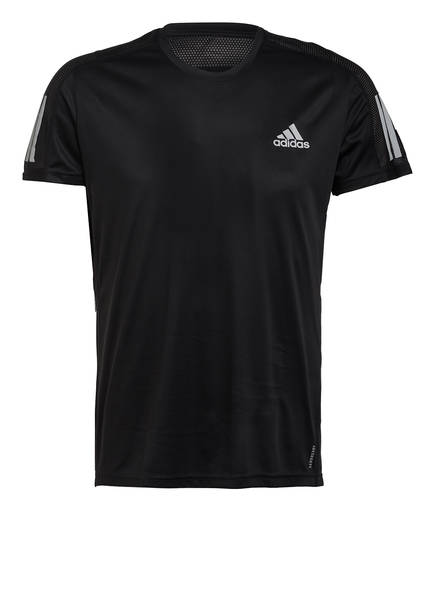 adidas T-Shirt OWN THE RUN, Farbe: SCHWARZ (Bild 1)