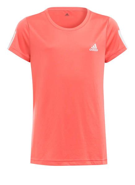 adidas T-Shirt EQUIPMENT mit Mesh-Einsatz, Farbe: HELLROT (Bild 1)