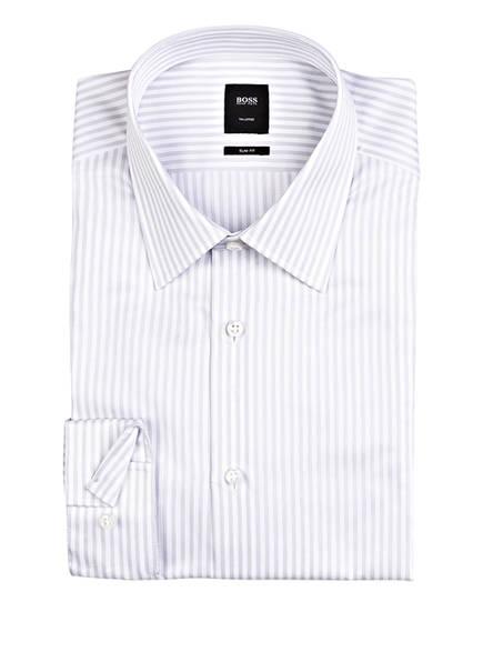 BOSS Hemd T-CARL Slim Fit, Farbe: WEISS/ HELLGRAU GESTREIFT (Bild 1)