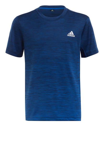 adidas T-Shirt AEROREADY, Farbe: BLAU/ DUNKELBLAU (Bild 1)