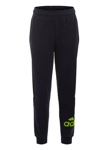 adidas Sweatpants MUST HAVES BADGE OF SPORT, Farbe: DUNKELBLAU/ GELB (Bild 1)