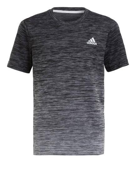 adidas T-Shirt AEROREADY, Farbe: SCHWARZ/ WEISS (Bild 1)