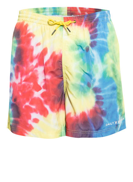 DAILY PAPER Badeshorts, Farbe: GELB/ ROT/ BLAU (Bild 1)