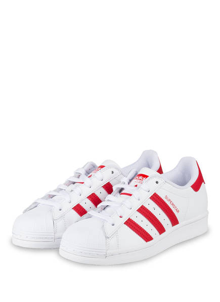 adidas Originals Sneaker SUPERSTAR, Farbe: WEISS/ ROT (Bild 1)