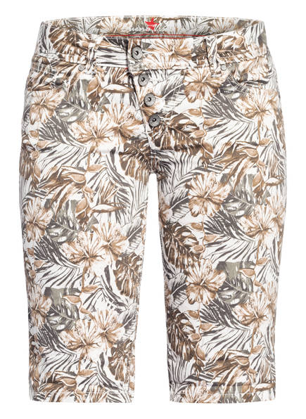Buena Vista Shorts MALIBU , Farbe: WEISS/ KHAKI (Bild 1)