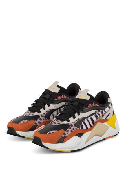 PUMA Plateau-Sneaker RS-X WILD CATS, Farbe: HELLBEIGE/ SCHWARZ/ DUNKELORANGE (Bild 1)