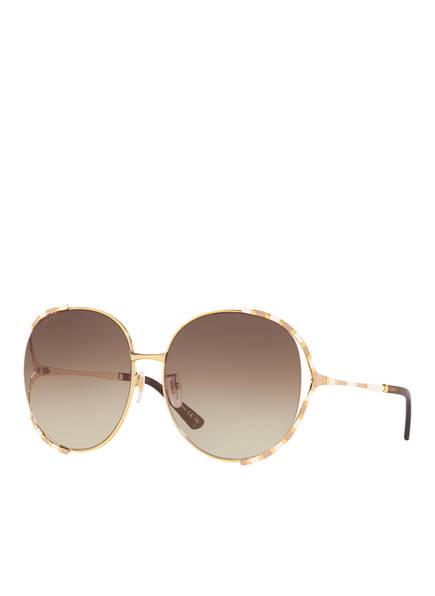 GUCCI Sonnenbrille GC001340, Farbe: 5010D4 - GOLD/ BRAUN VERLAUF  (Bild 1)