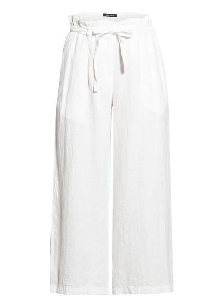 Marc O'Polo Paperbag-Hose aus Leinen, Farbe: WEISS (Bild 1)