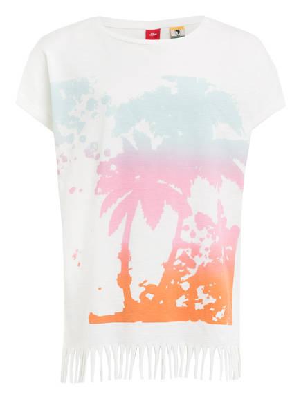 s.Oliver T-Shirt mit Fransen, Farbe: WEISS (Bild 1)