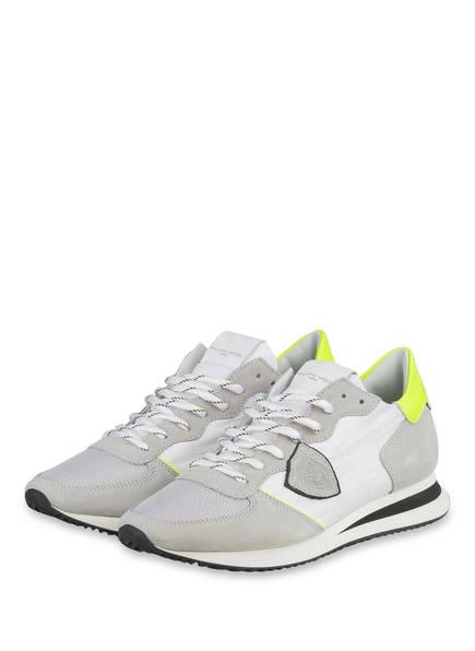 PHILIPPE MODEL Sneaker TRPX, Farbe: HELLGRAU/ GELB (Bild 1)